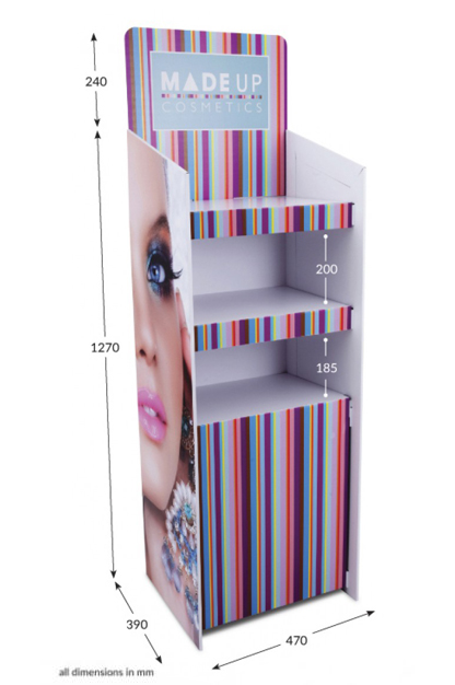 3 Shelf Clip Unit Type 2 - Fully Printed