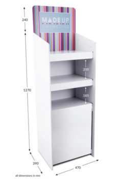 3 Shelf Clip Unit Type 2 - Header Printed