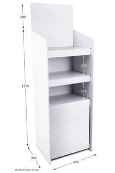 3 Shelf Clip Unit Type 2 - Unprinted
