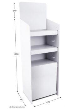 3 Shelf Clip Unit Type 2 - Unprinted