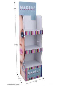3 Shelf Compact Popup FSDU - Fully Printed