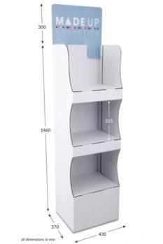 3 Shelf Compact Popup FSDU - Header Printed