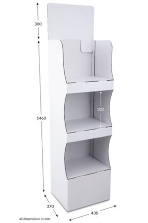 3 Shelf Compact Popup FSDU - Unprinted