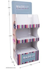 3 Shelf Wide Popup FSDU - Fully Printed