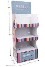 3 Shelf Wide Popup FSDU - Fully Printed