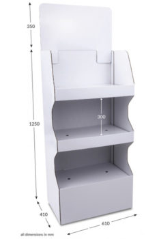 3 Shelf Wide Popup FSDU - Unprinted