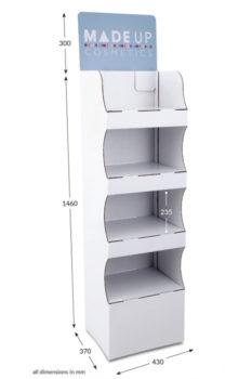 4 Shelf Compact Popup FSDU - Header Printed
