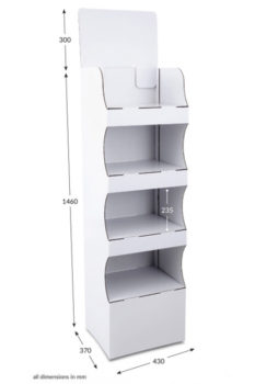 4 Shelf Compact Popup FSDU - Unprinted
