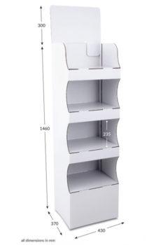 4 Shelf Compact Popup FSDU - Unprinted