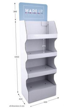 4 Shelf Wide Popup FSDU - Header Printed