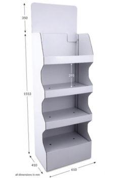 4 Shelf Wide Popup FSDU - Unprinted