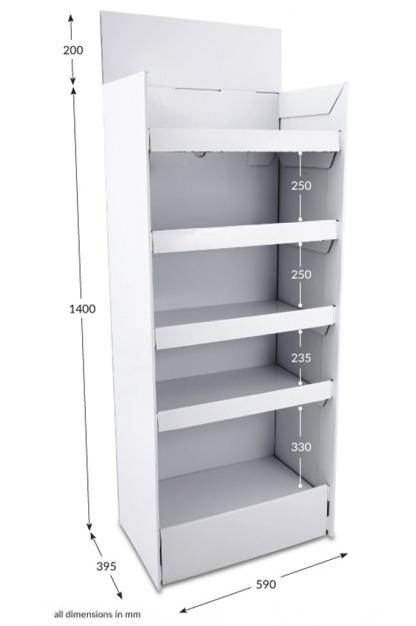 5 Shelf Clip Unit - Unprinted