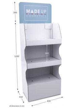 3 Shelf Wide Popup FSDU - Header Printed