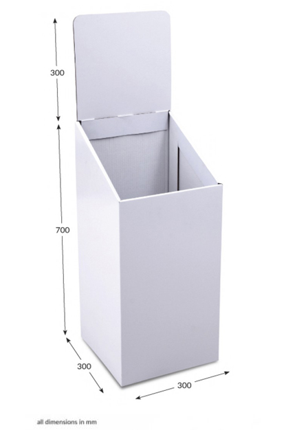 Small Square Dump Bin - Unprinted