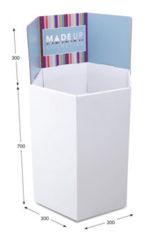 Large Hexagonal Dump Bin - Header Printed