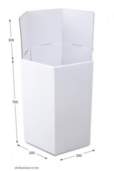 Large Hexagonal Dump Bin - Unprinted