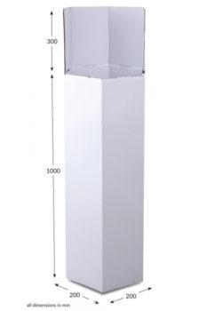 Tall Hexagonal Dump Bin - Unprinted