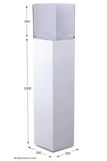 Tall Hexagonal Dump Bin - Unprinted